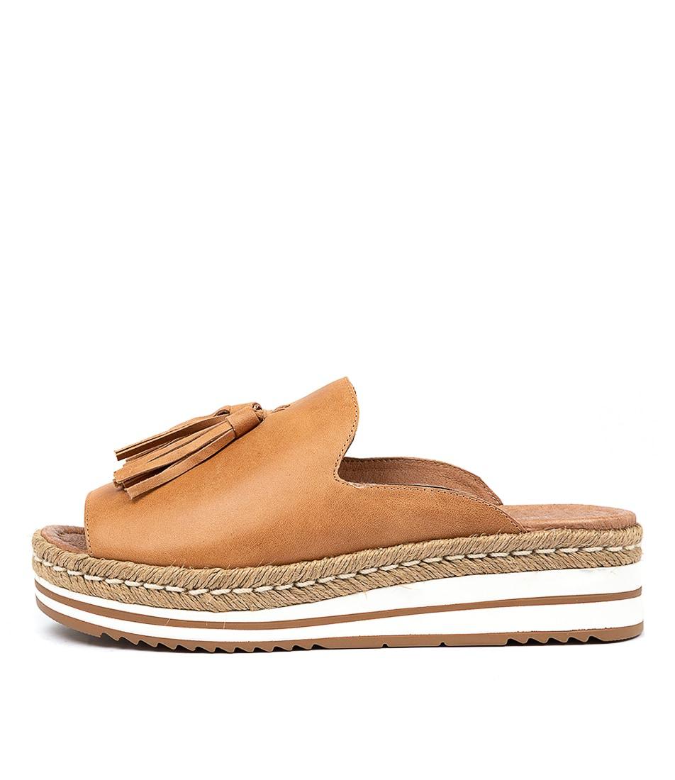 Buy Django & Juliette Ayden Dk Tan Flat Sandals online with free shipping