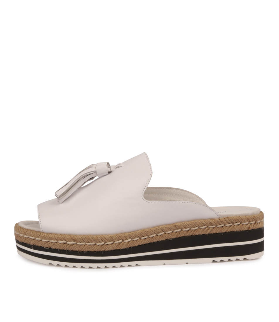 Buy Django & Juliette Ayden White Flat Sandals online with free shipping
