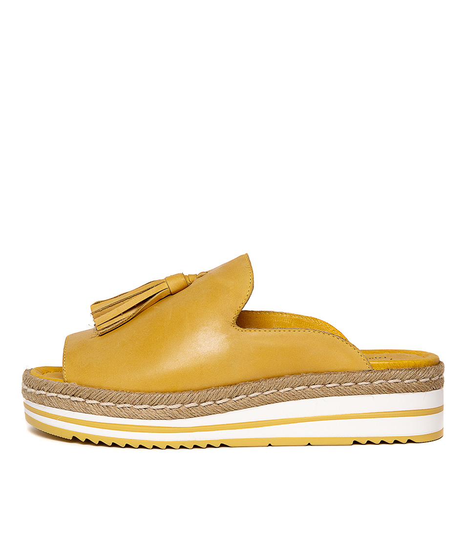 Buy Django & Juliette Ayden Yellow Flat Sandals online with free shipping