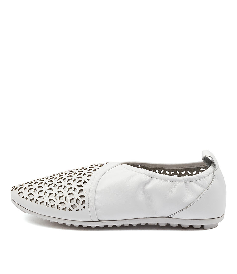 Buy Django & Juliette Bryon White Flats online with free shipping