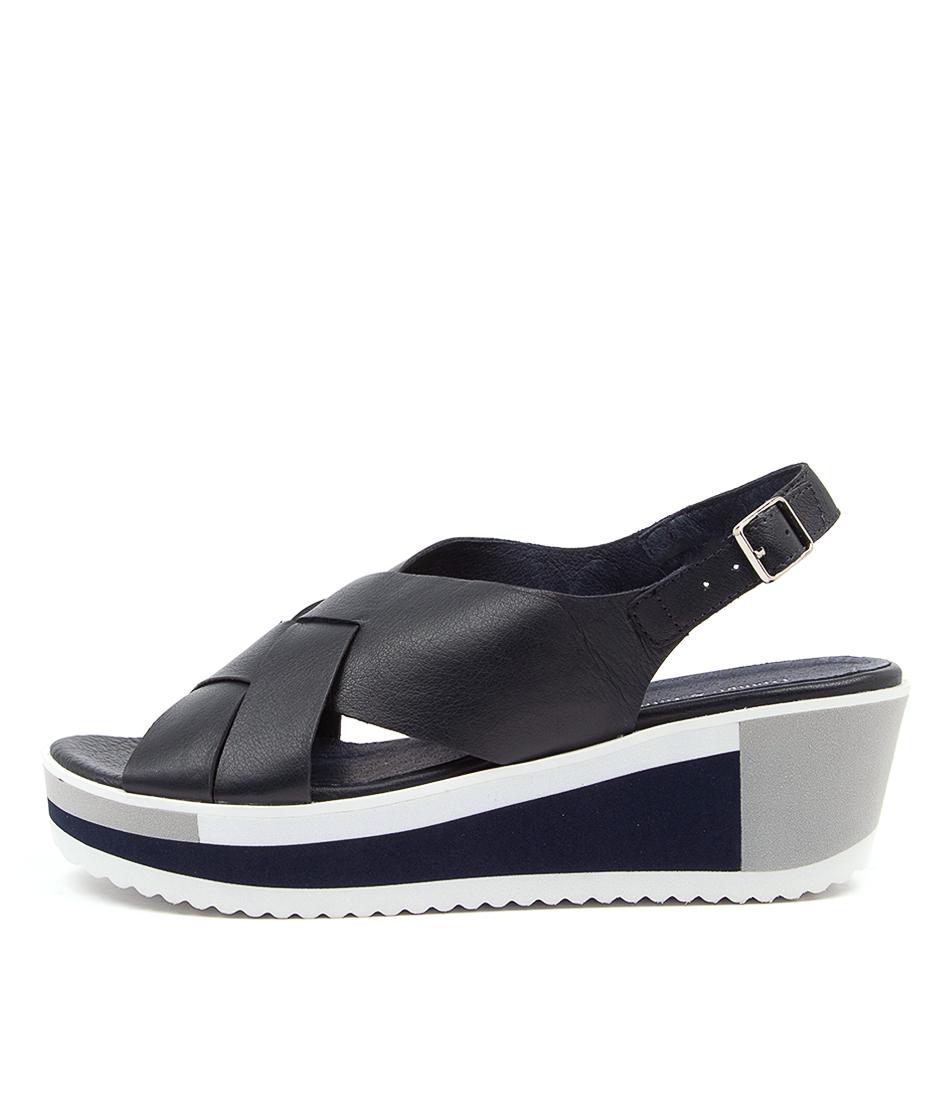 Buy Django & Juliette Damari Navy Heeled Sandals online with free shipping