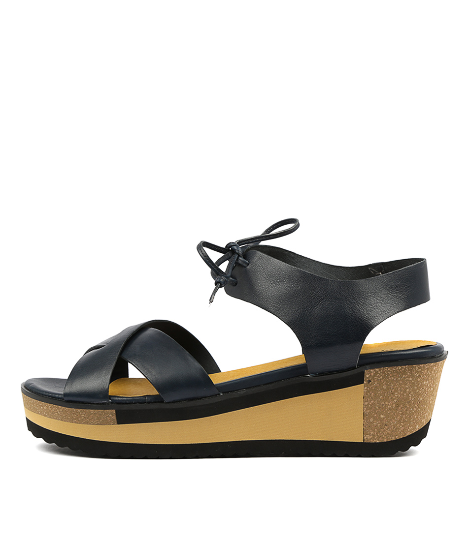 Buy Django & Juliette Delpha Navy Heeled Sandals online with free shipping