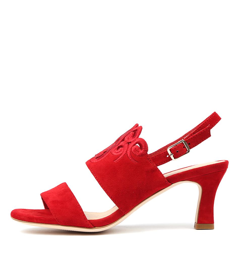 Django & Juliette Faliss Red Sandals