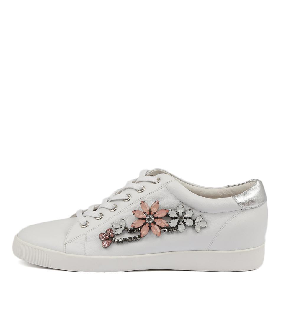 Django & Juliette Grecia White Silver Sneakers