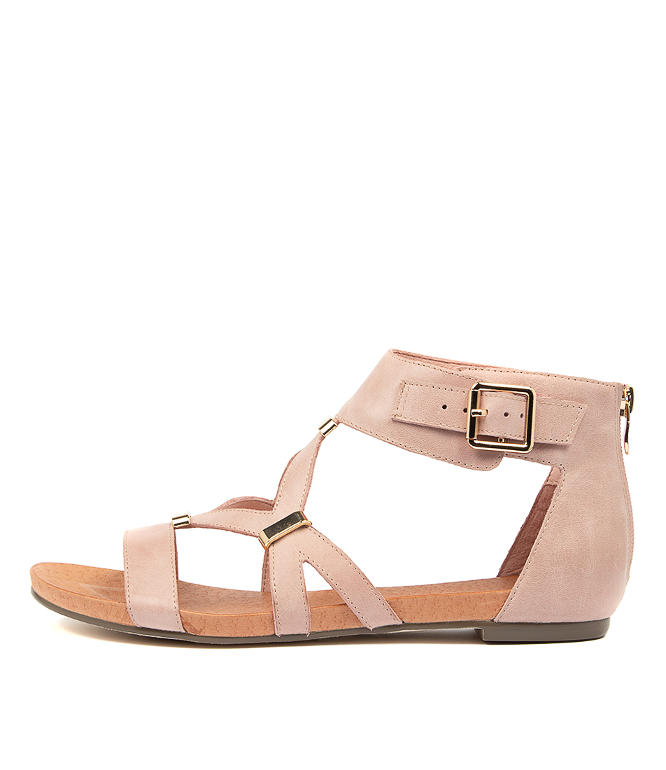 Buy Django & Juliette Jadiel Pale Pink Flat Sandals online with free shipping