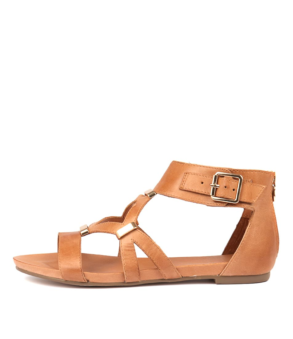 Buy Django & Juliette Jadiel Tan Flat Sandals online with free shipping