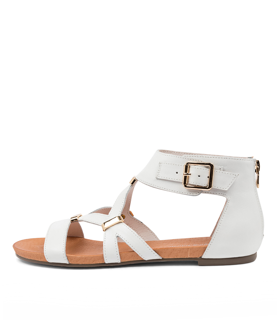 Buy Django & Juliette Jadiel White Flat Sandals online with free shipping
