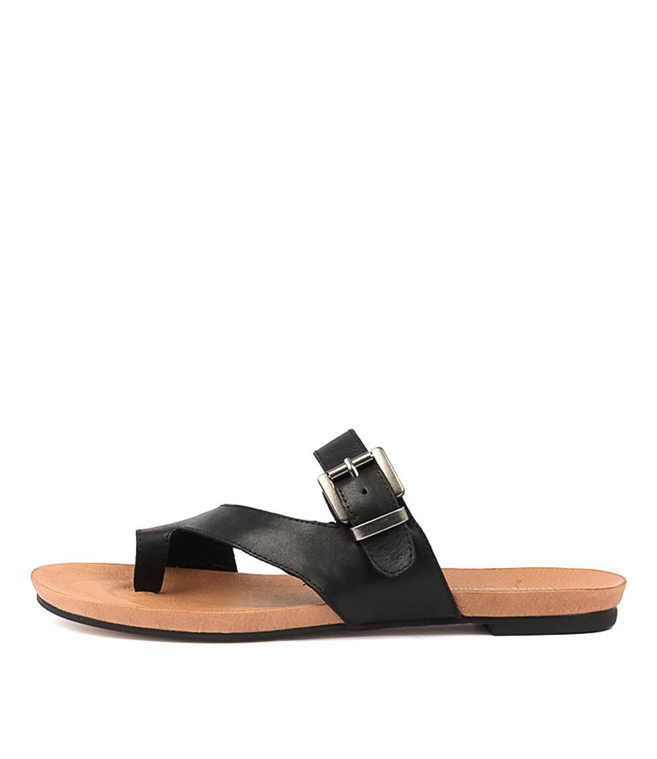 Buy Django & Juliette Jajuan Black Flat Sandals online with free shipping