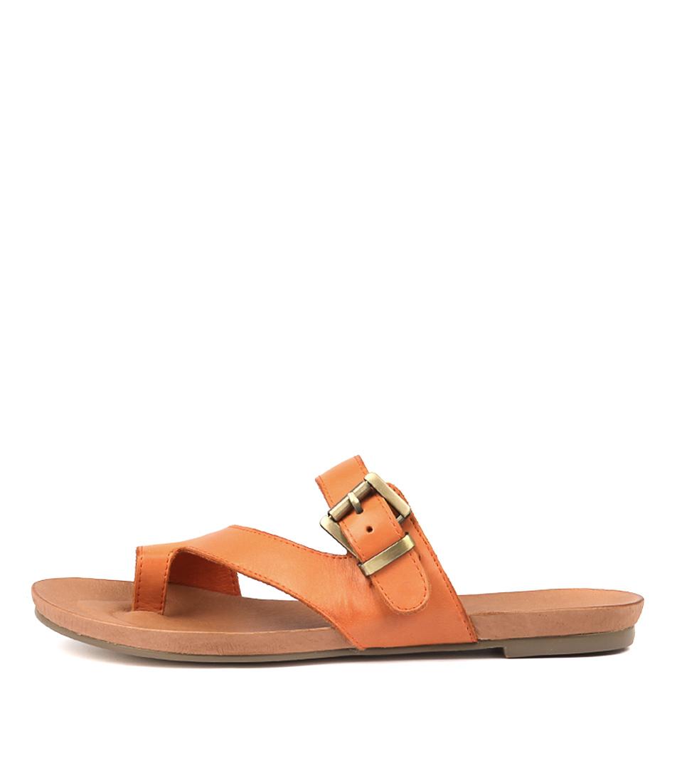 Buy Django & Juliette Jajuan Orange Flat Sandals online with free shipping