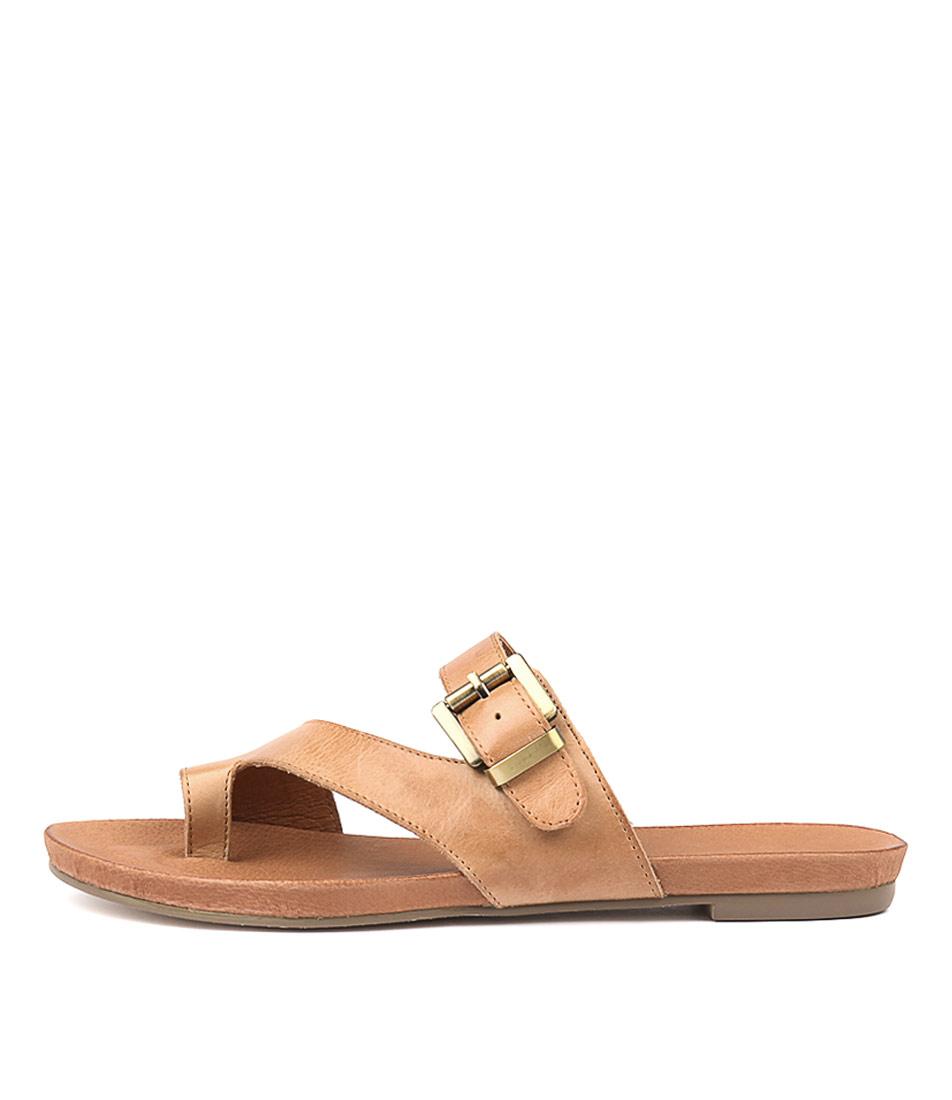 Buy Django & Juliette Jajuan Tan Flat Sandals online with free shipping