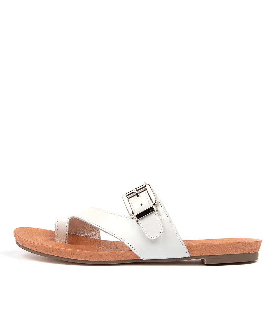 Buy Django & Juliette Jajuan White Flat Sandals online with free shipping