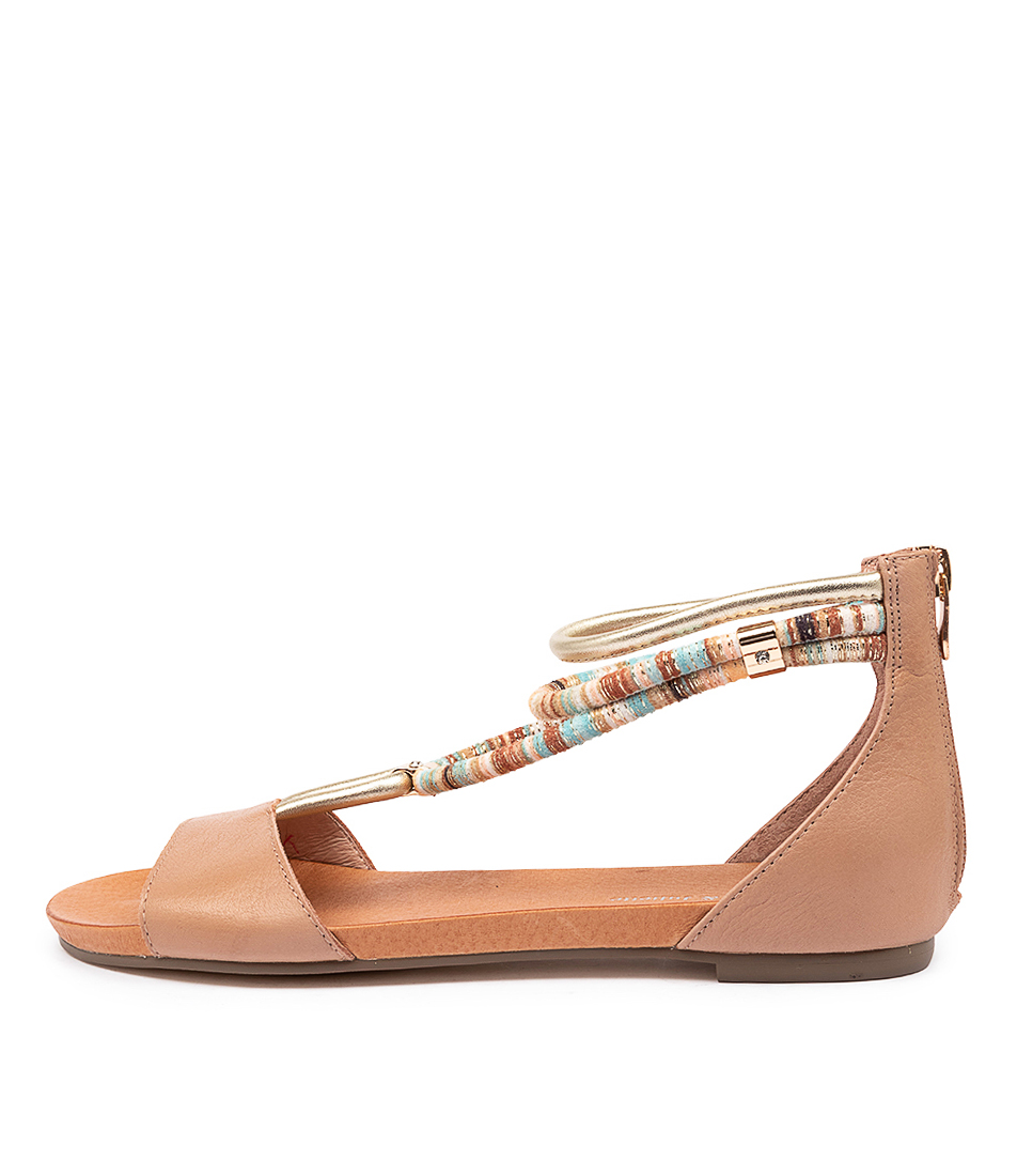 Buy Django & Juliette Jazmin Cafe Flat Sandals online with free shipping