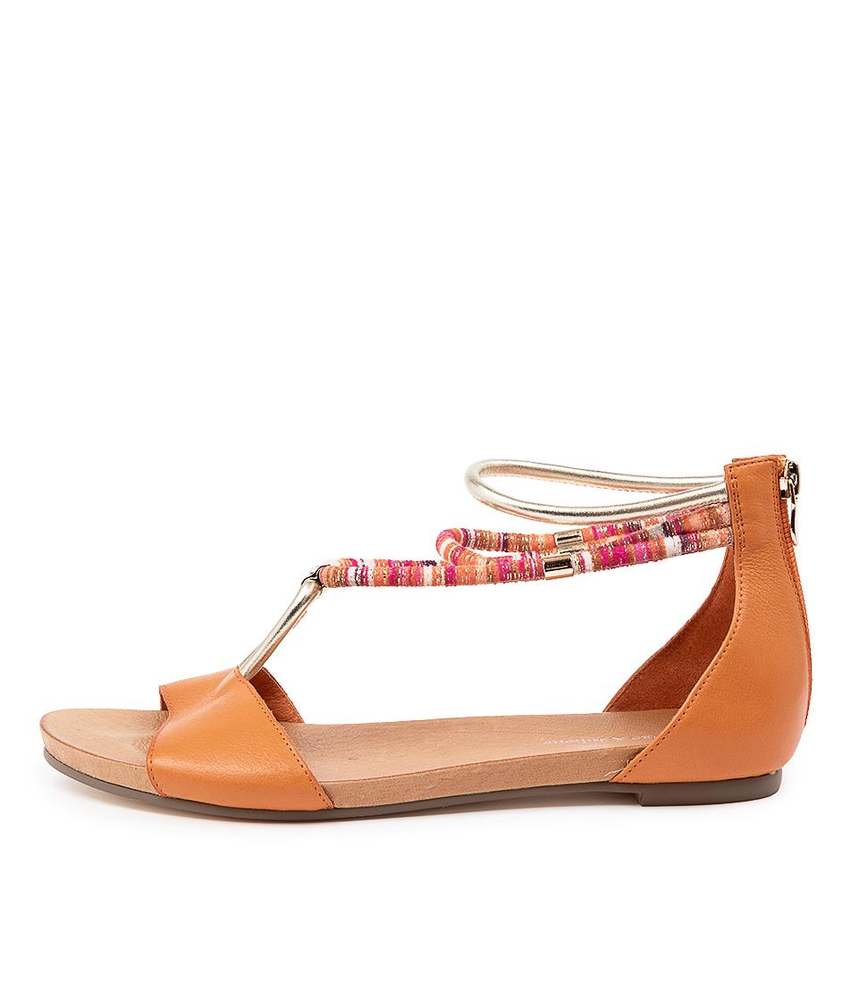 Buy Django & Juliette Jazmin Orange Flat Sandals online with free shipping