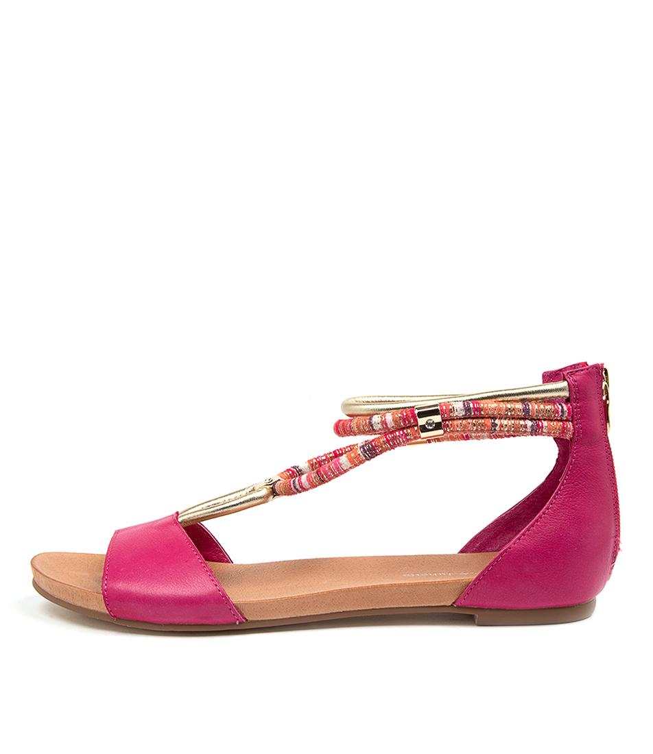 Buy Django & Juliette Jazmin Fuchsia Flat Sandals online with free shipping
