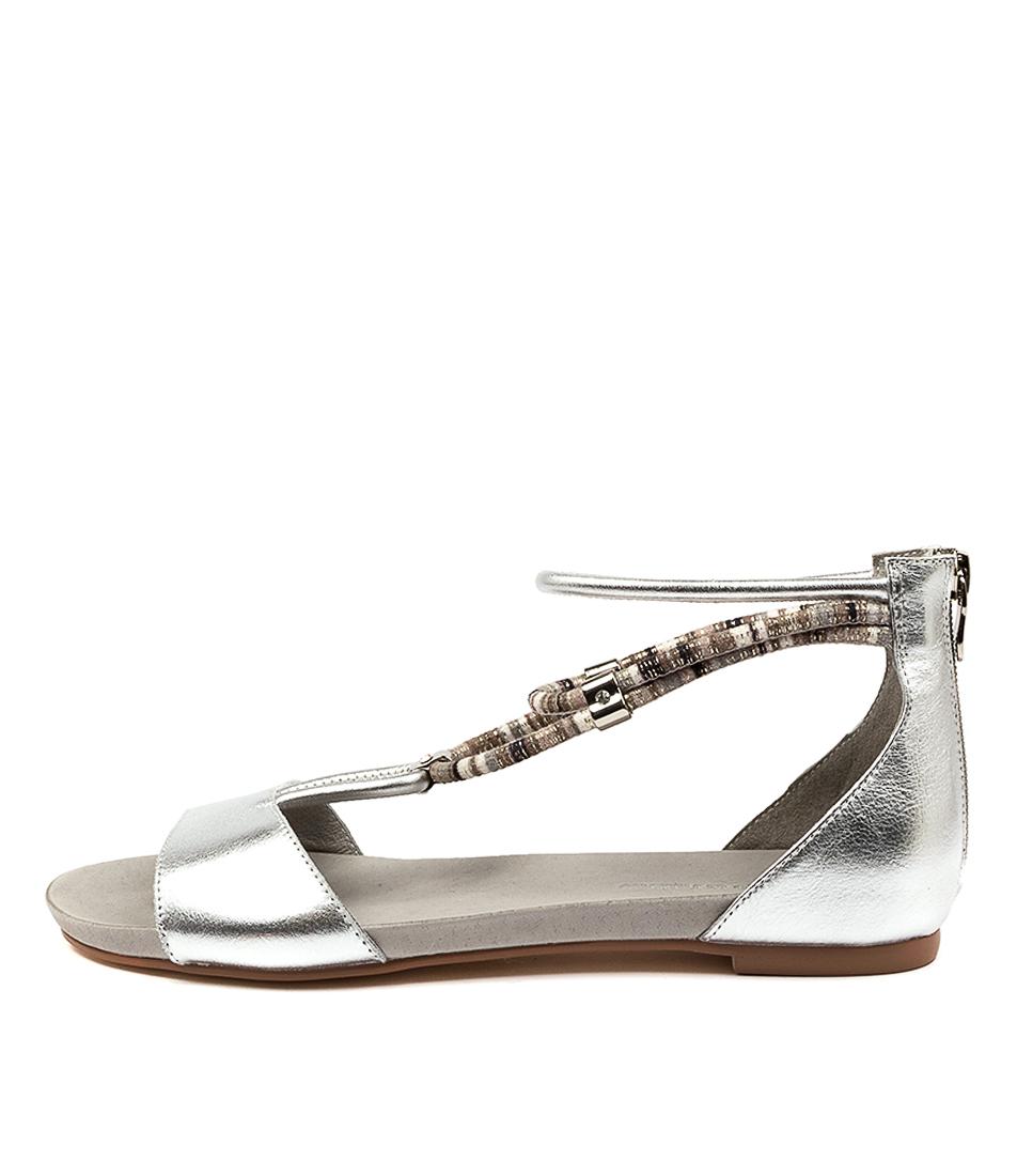 Buy Django & Juliette Jazmin Silver Flat Sandals online with free shipping