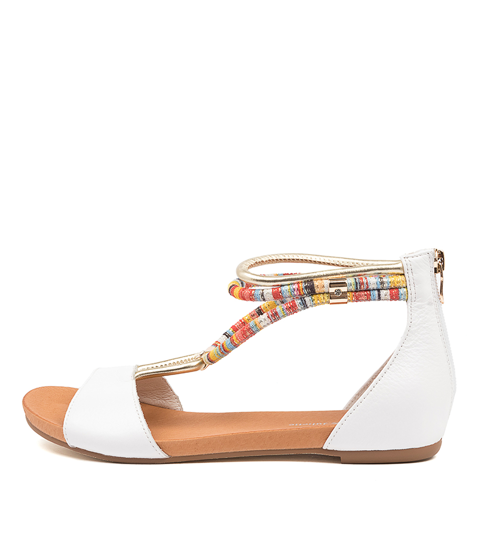 Buy Django & Juliette Jazmin White Flat Sandals online with free shipping