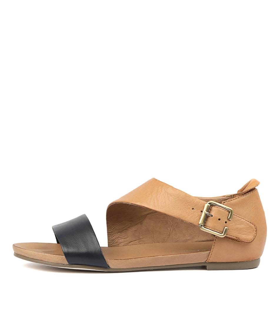 Buy Django & Juliette Jereds Navy Tan Flat Sandals online with free shipping