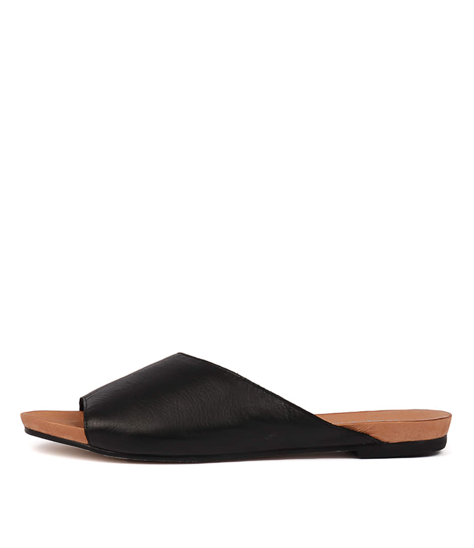 Buy Django & Juliette Jerica Black Flat Sandals online with free shipping