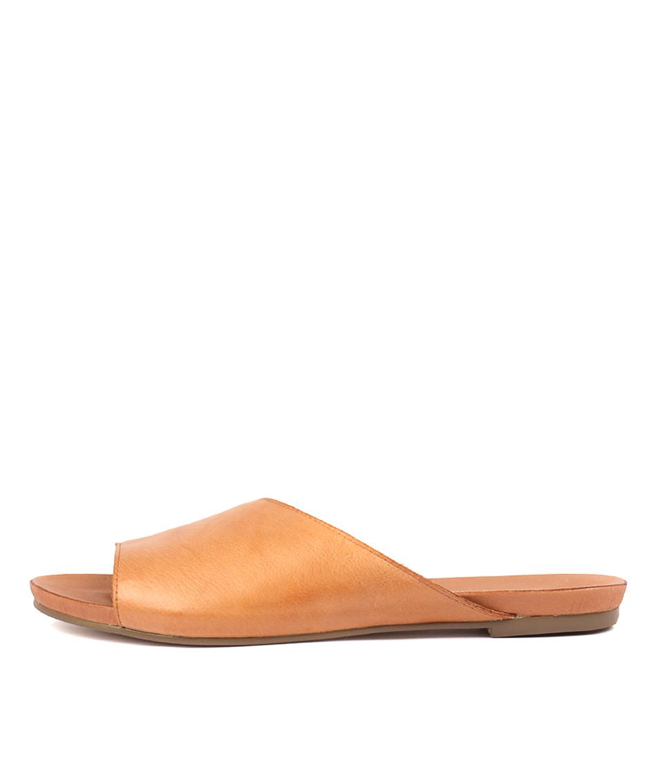 Buy Django & Juliette Jerica Tan Flat Sandals online with free shipping