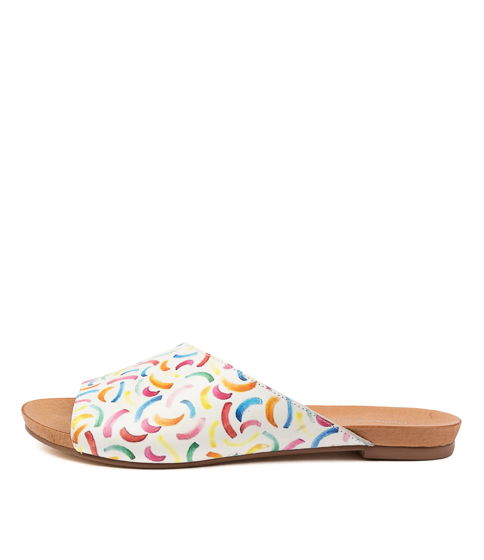 Buy Django & Juliette Jerica Curl Print Flat Sandals online with free shipping