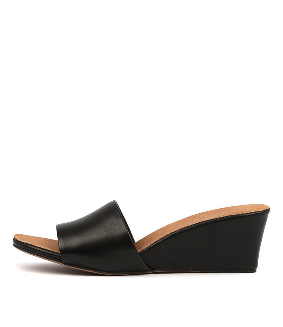 Buy Django & Juliette Lindas Black Tan Footb Heeled Sandals online with free shipping