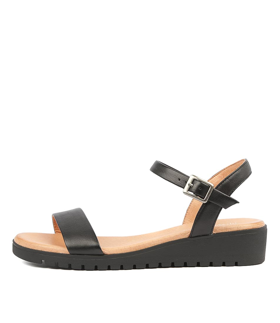 Buy Django & Juliette Marylee Black Sole Flat Sandals online with free shipping