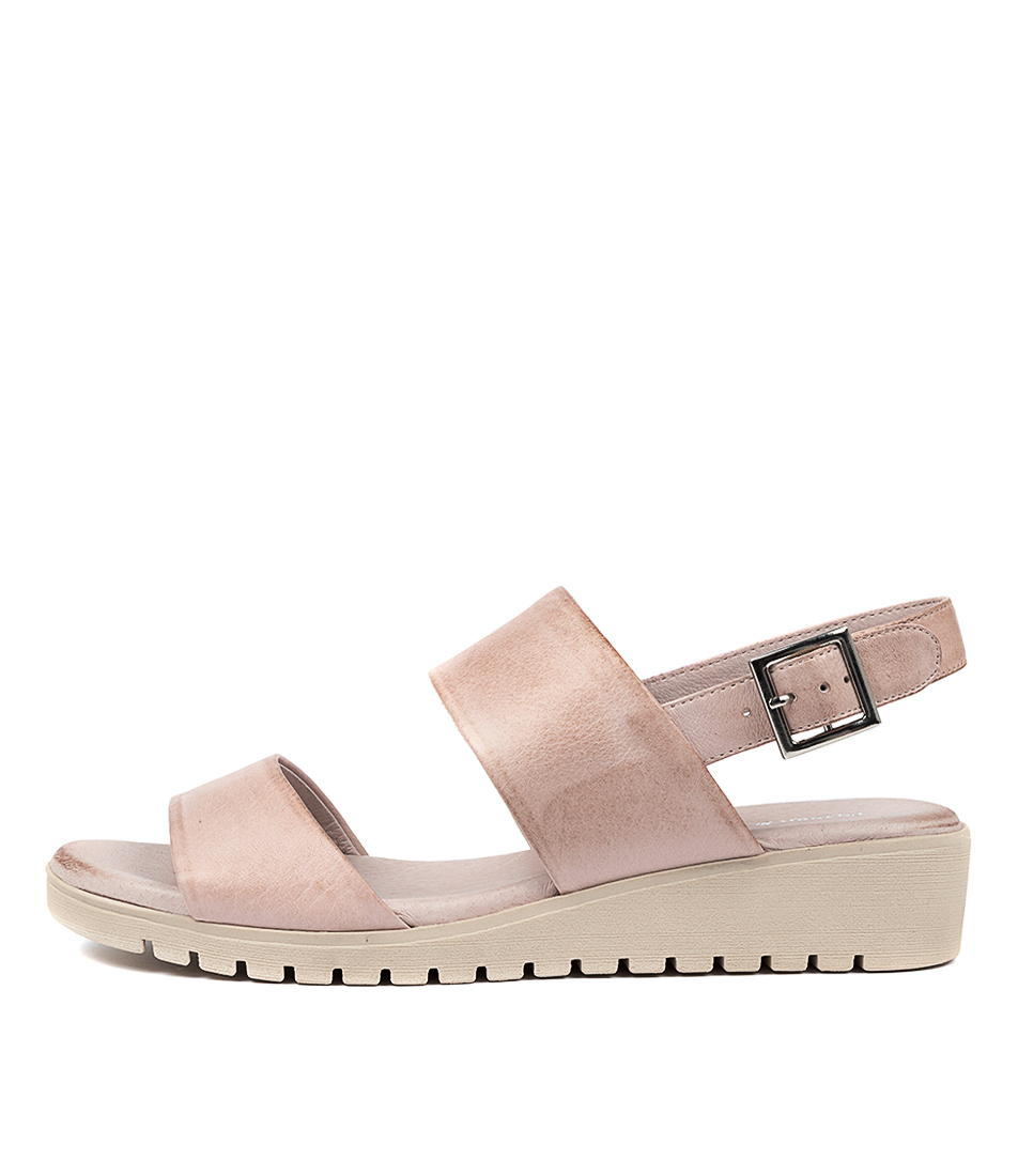 Buy Django & Juliette Maximo Dusty Pink Nude Sole Flat Sandals online with free shipping