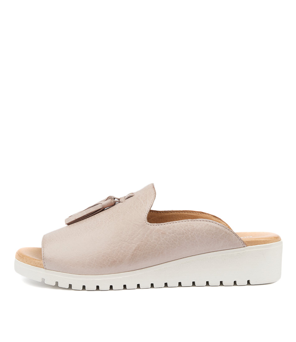Buy Django & Juliette Mayson Pale Pink White Sole Flat Sandals online with free shipping