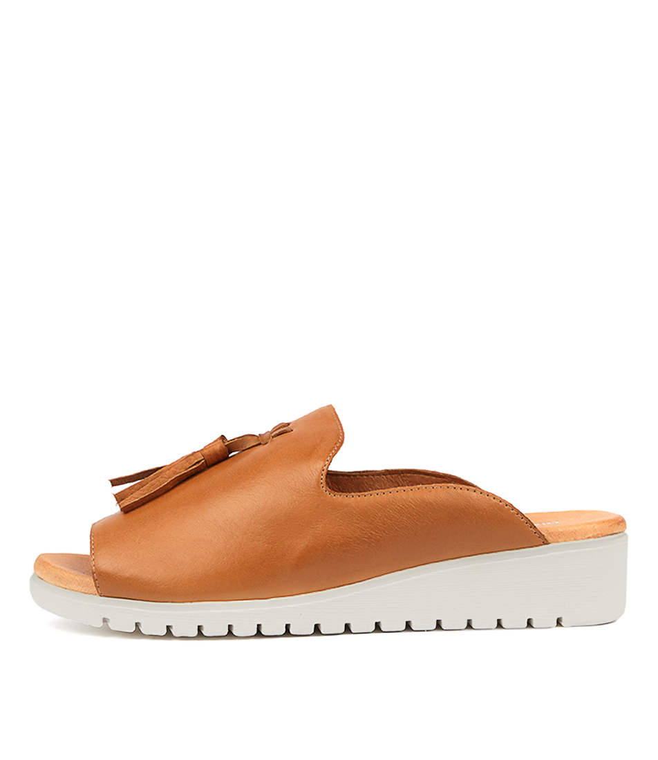 Buy Django & Juliette Mayson Dk Tan White So Flat Sandals online with free shipping