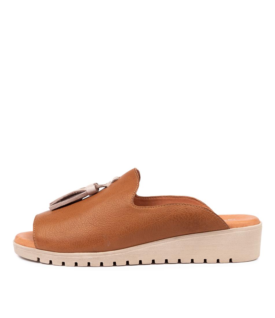 Buy Django & Juliette Mayson Dk Tan Nude Flat Sandals online with free shipping