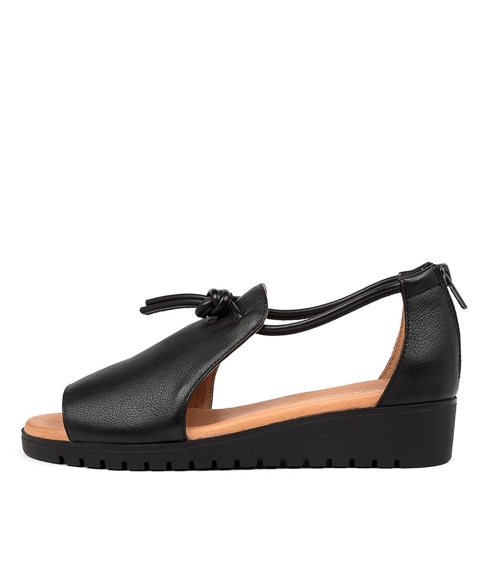 Buy Django & Juliette Melvin Black Sole Flat Sandals online with free shipping