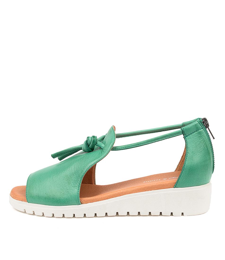 Buy Django & Juliette Melvin Spearmint Flat Sandals online with free shipping