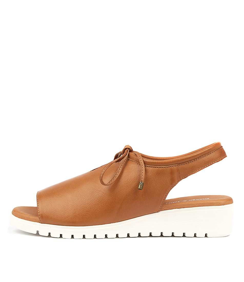 Buy Django & Juliette Monique Dk Tan White So Flat Sandals online with free shipping