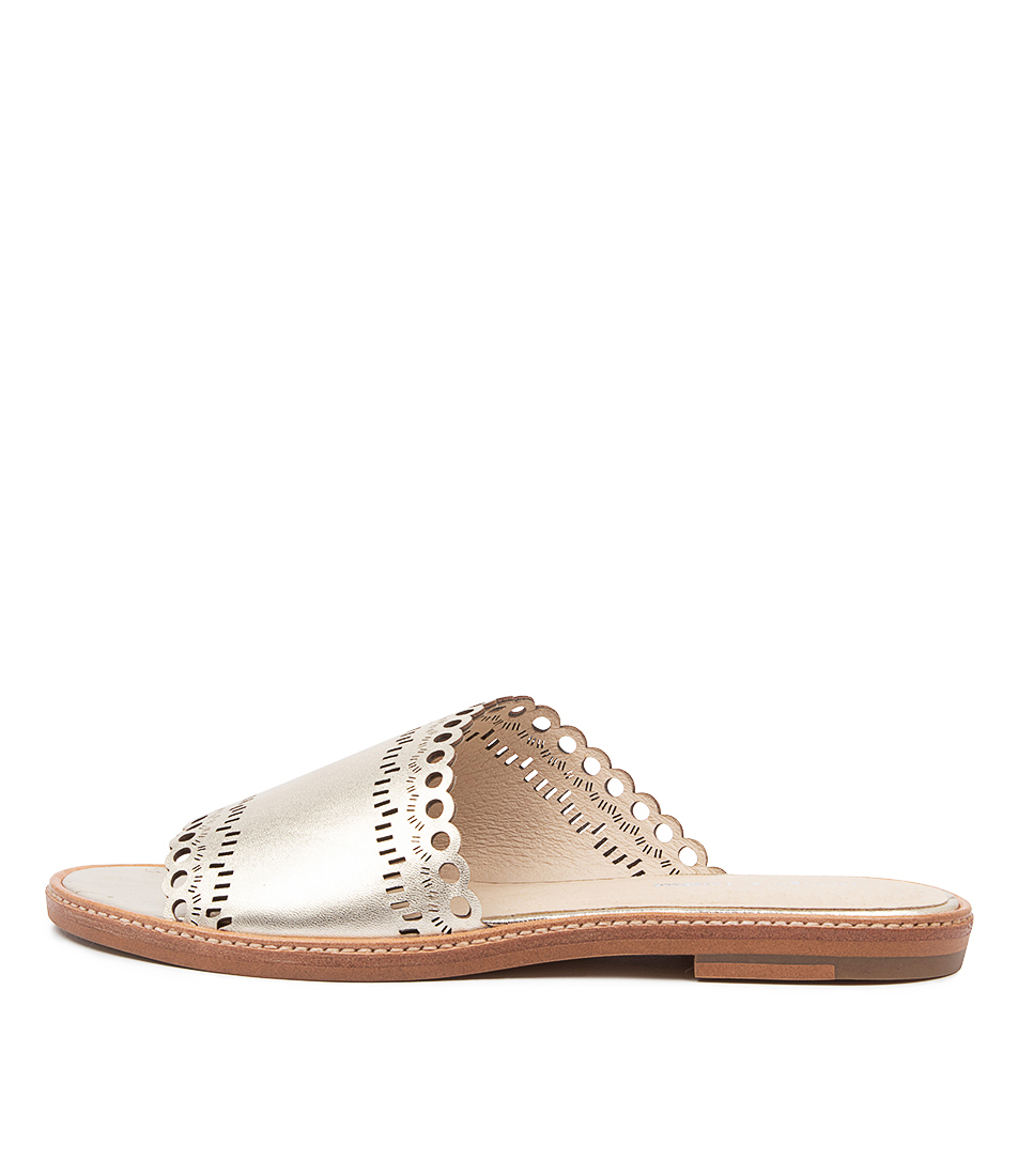 Buy Django & Juliette Nikia Pale Gold Flat Sandals online with free shipping