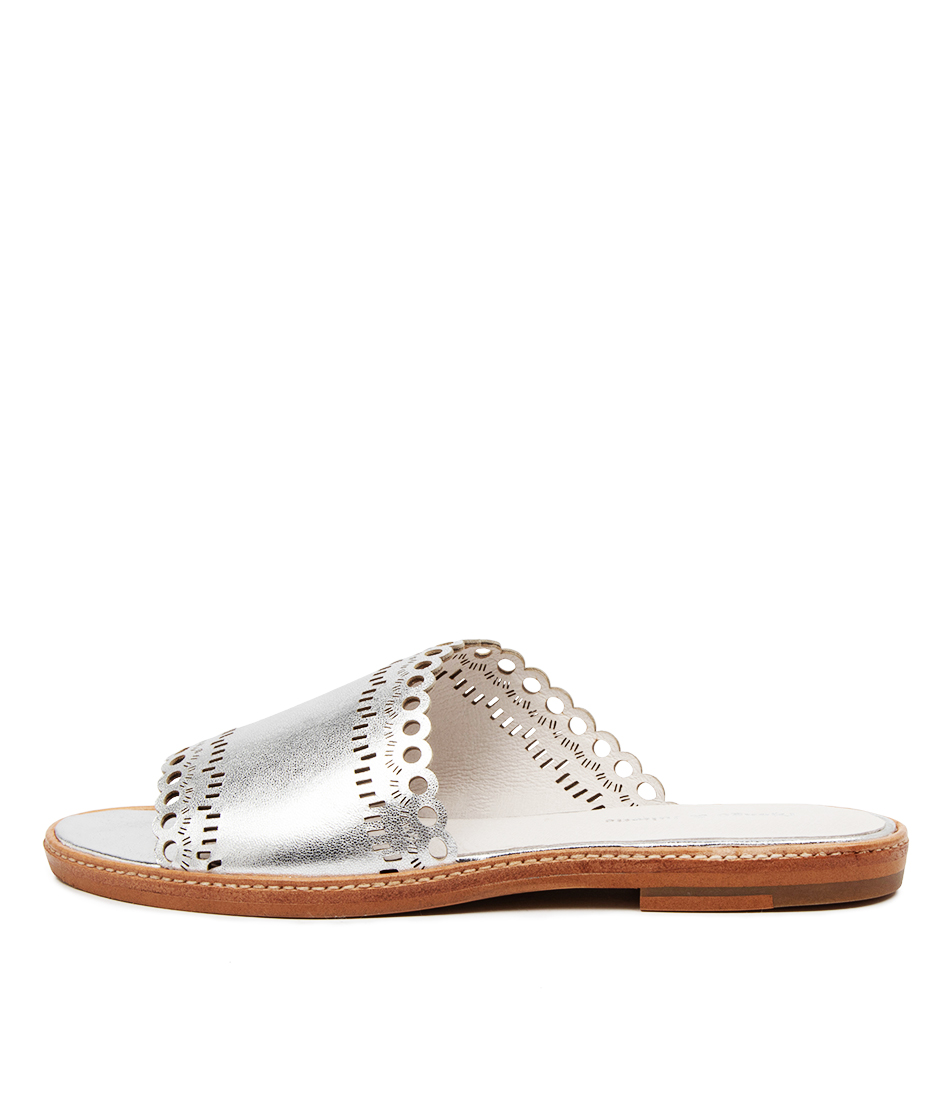 Buy Django & Juliette Nikia Silver Flat Sandals online with free shipping