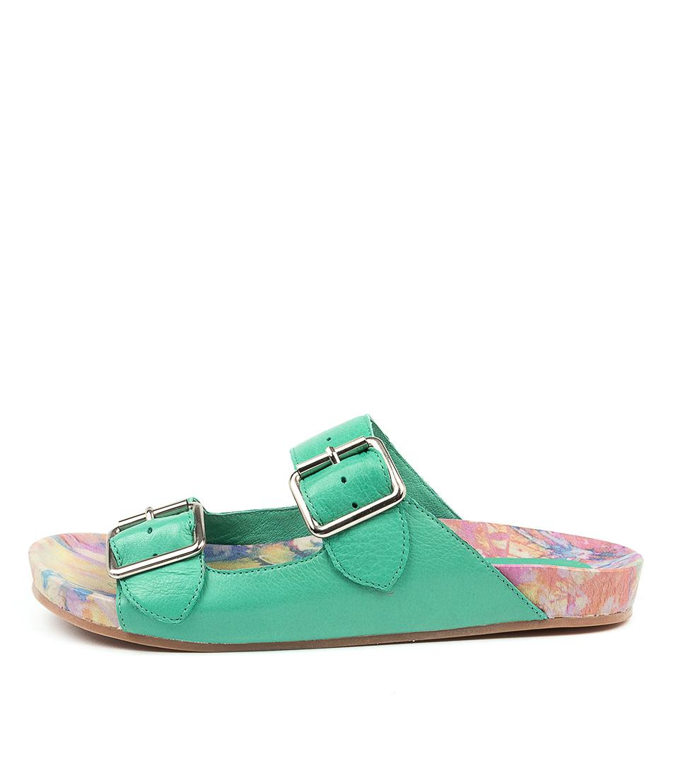 Buy Django & Juliette Nollary Spearmint Flat Sandals online with free shipping
