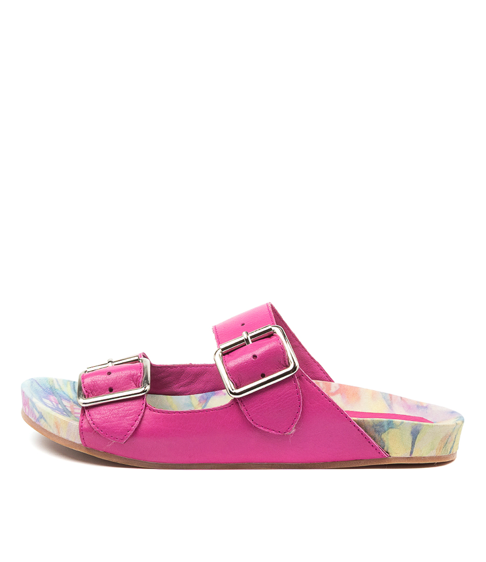 Buy Django & Juliette Nollary Fuchsia Flat Sandals online with free shipping