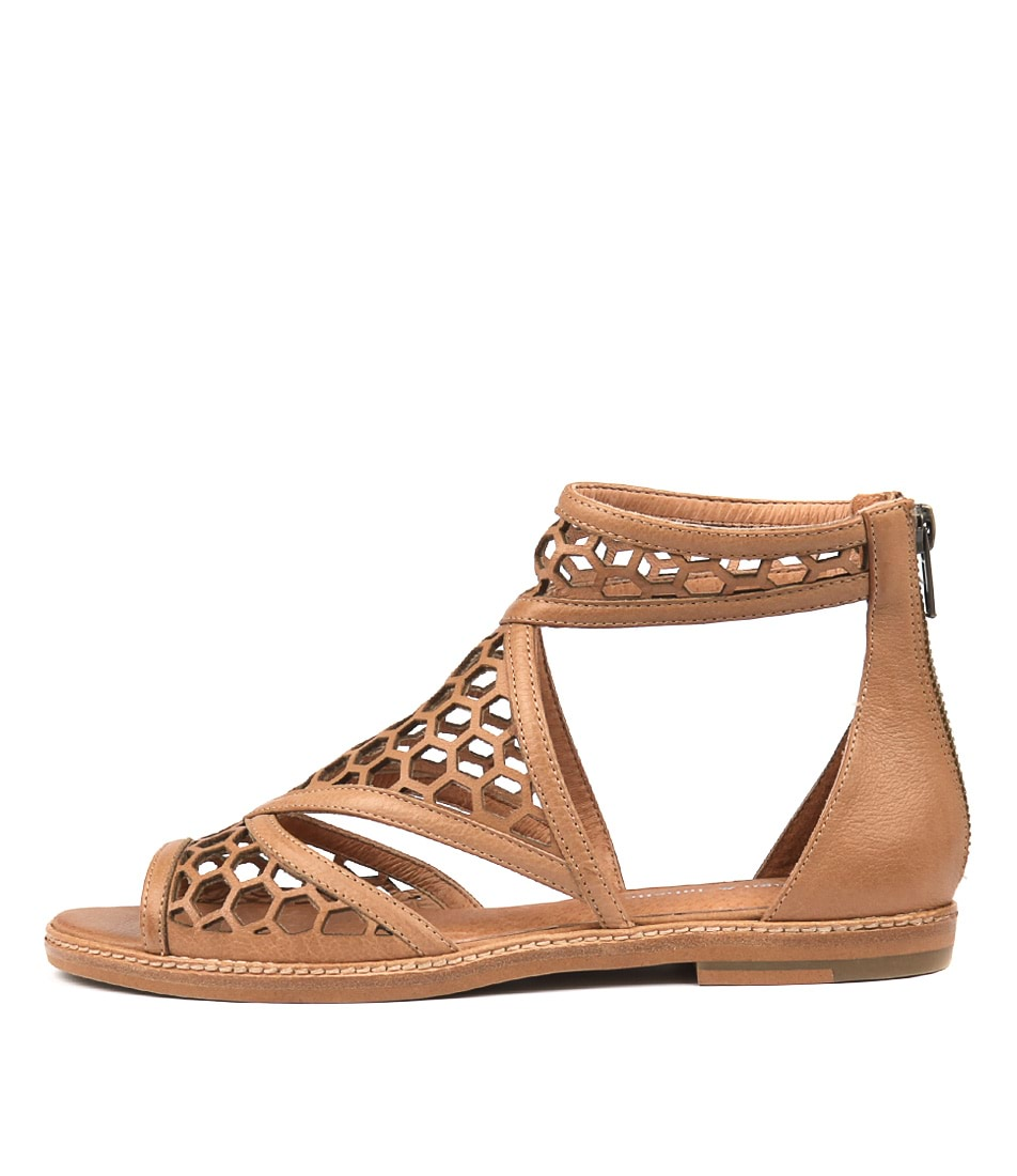 Buy Django & Juliette Noreta Dk Tan Flat Sandals online with free shipping