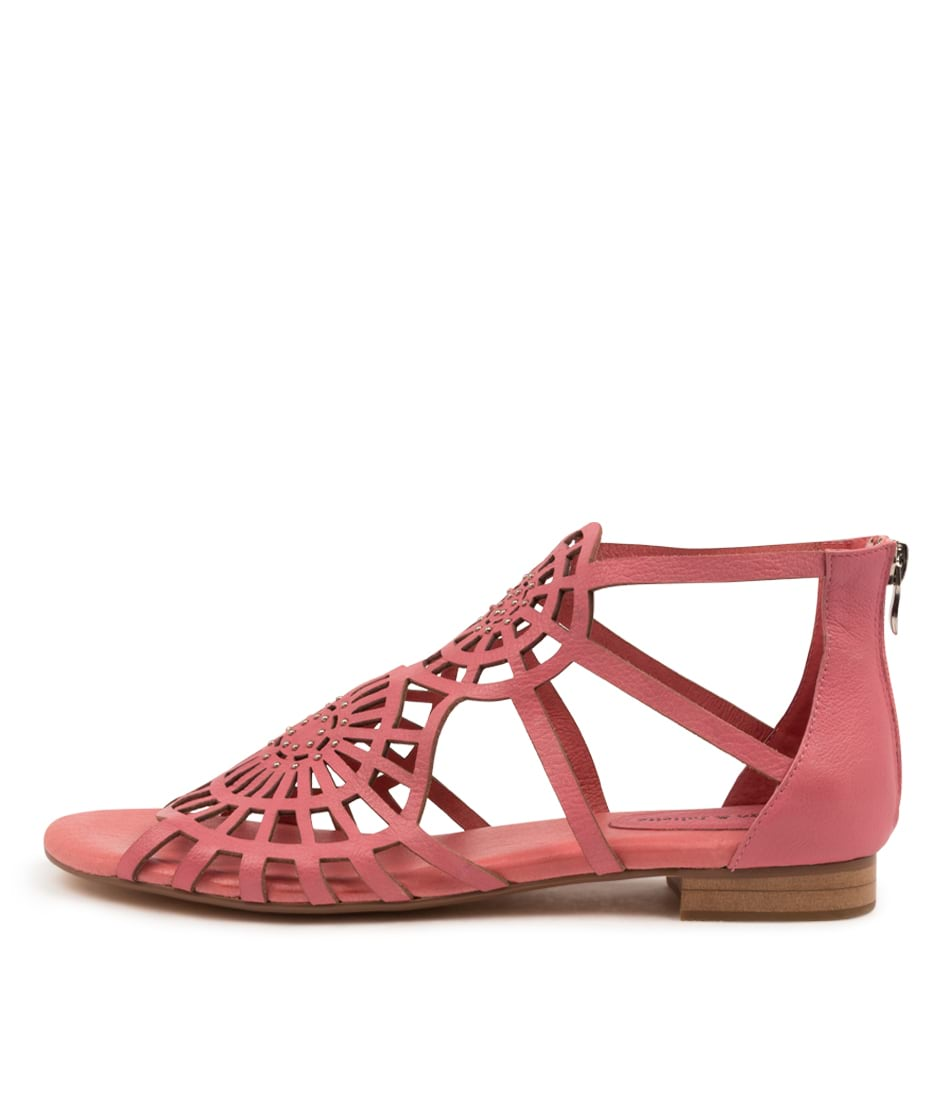 Buy Django & Juliette Paulette Candy Pink Flat Sandals online with free shipping