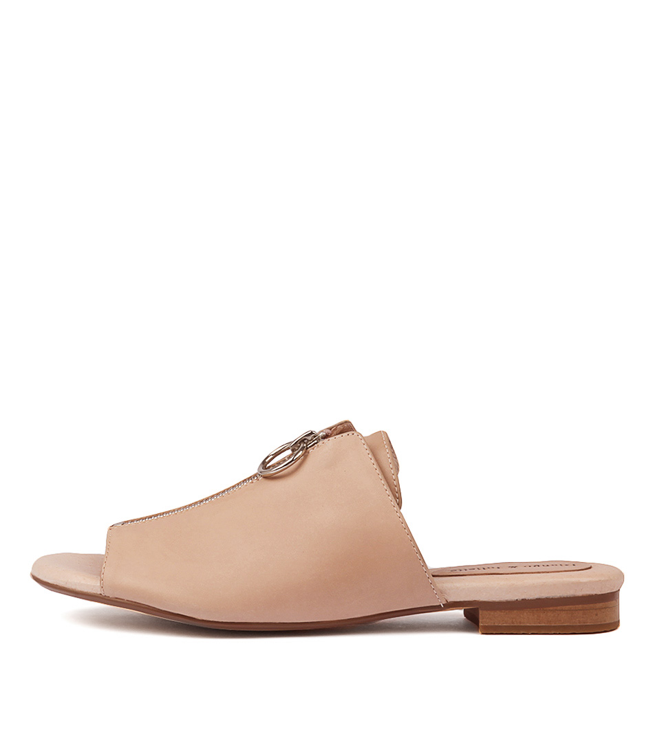 Buy Django & Juliette Precious Nude Flat Sandals online with free shipping