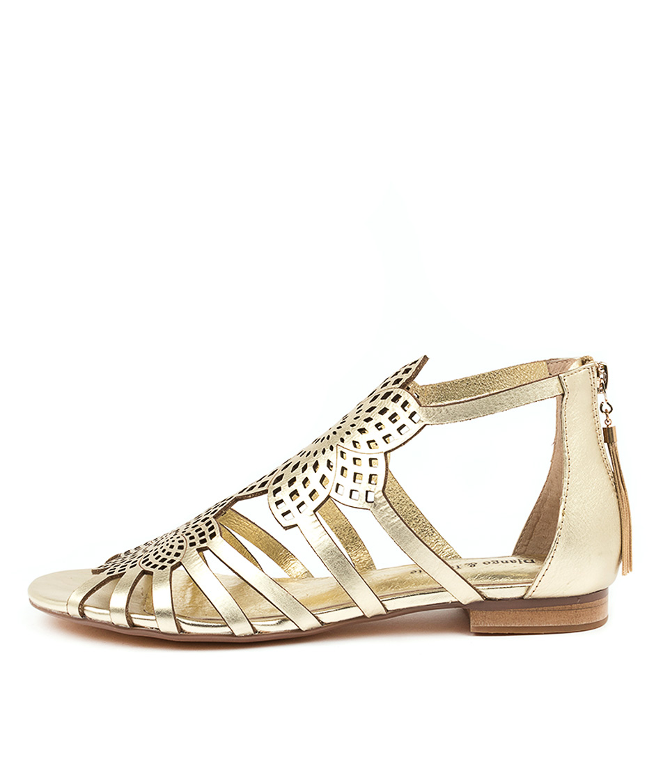 Buy Django & Juliette Puppy Pale Gold Flat Sandals online with free shipping