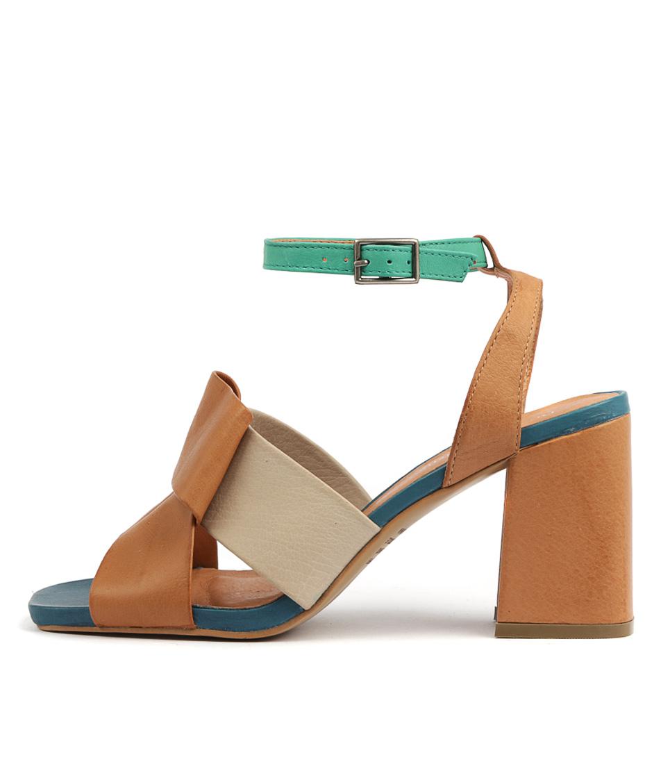 Buy Django & Juliette Renard Dk Tan Multi Heeled Sandals online with free shipping