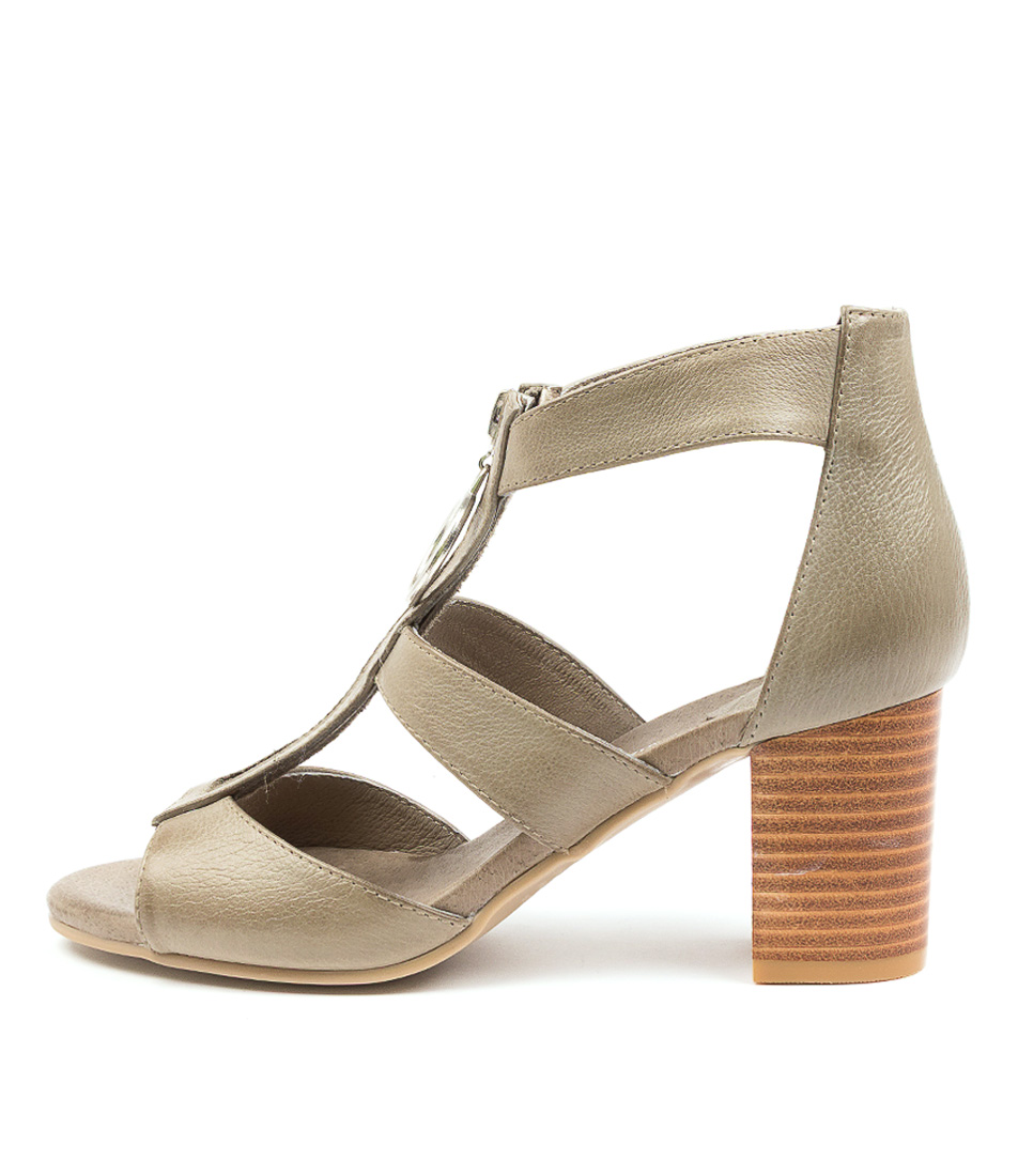 Buy Django & Juliette Saritas New Khaki Heeled Sandals online with free shipping