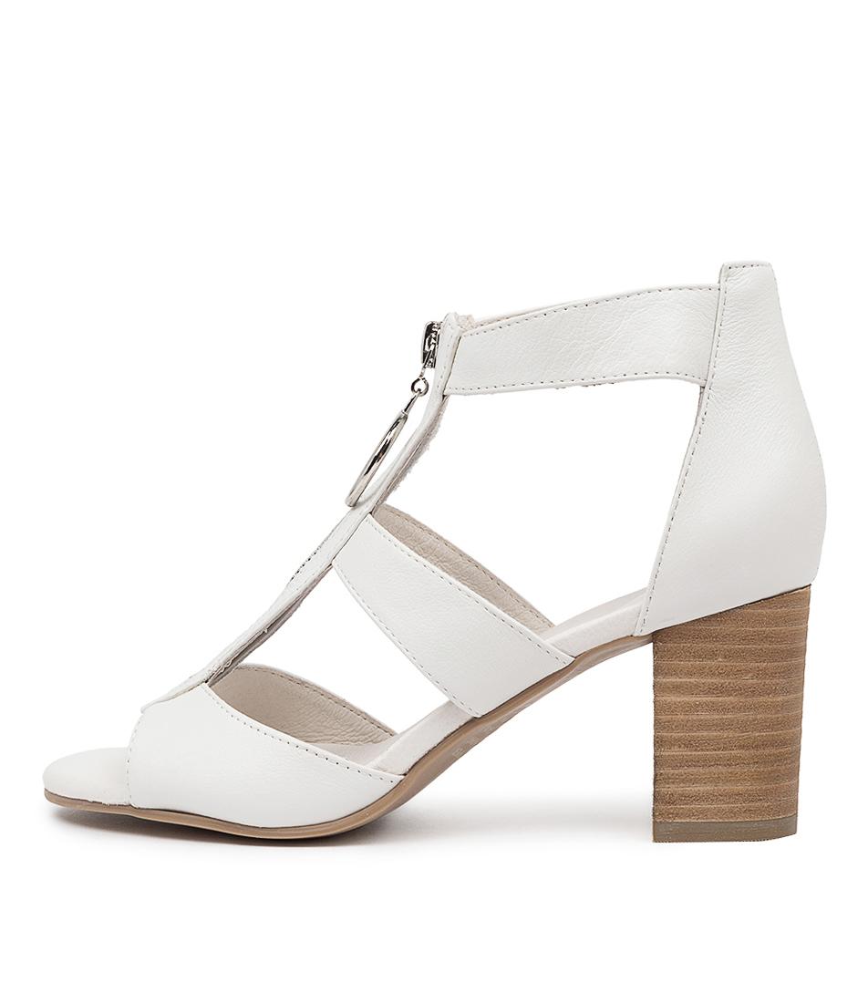 Buy Django & Juliette Saritas White Heeled Sandals online with free shipping