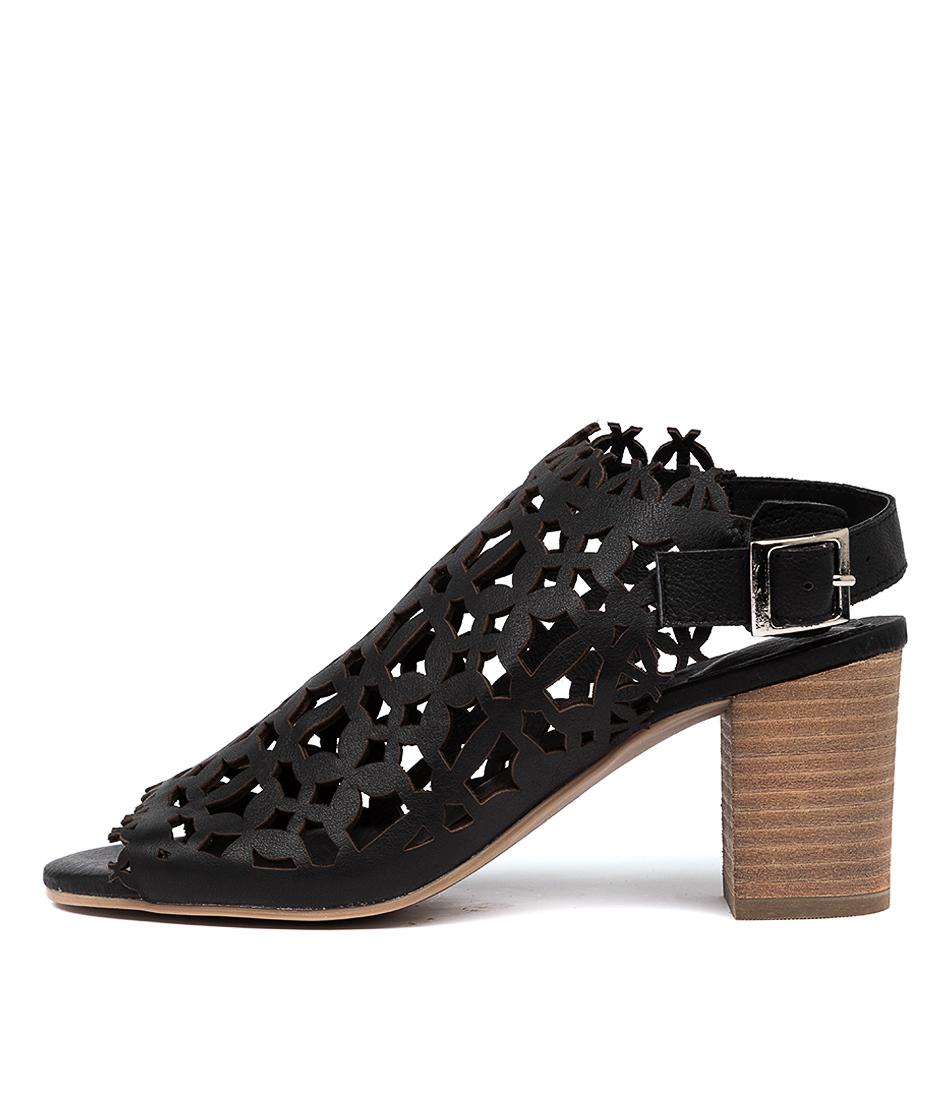 Buy Django & Juliette Shaina Black Heeled Sandals online with free shipping