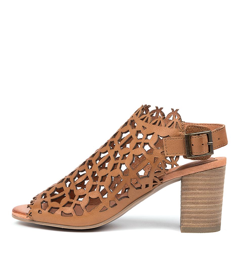 Buy Django & Juliette Shaina Dk Tan Heeled Sandals online with free shipping