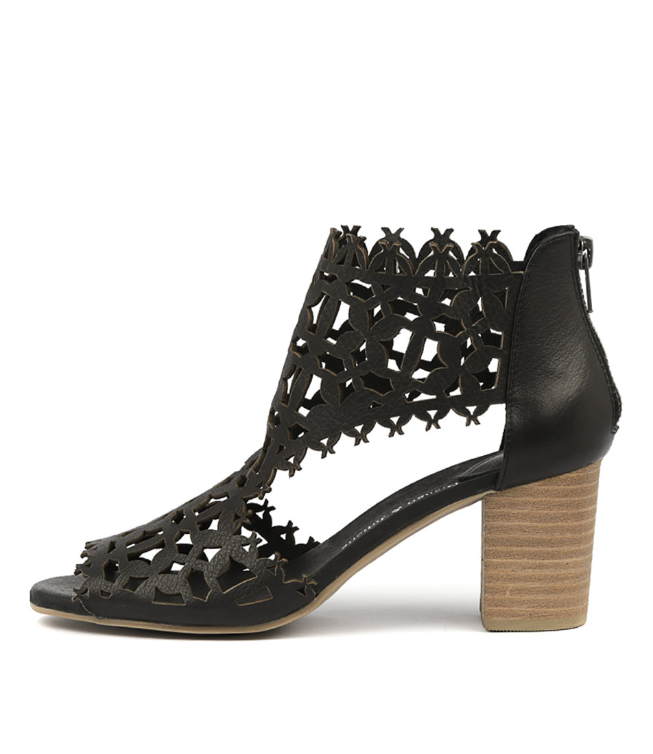 Buy Django & Juliette Shanon Black Heeled Sandals online with free shipping