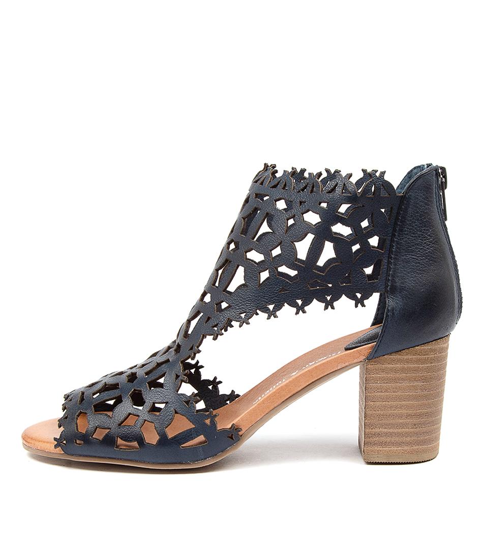Buy Django & Juliette Shanon Navy Heeled Sandals online with free shipping
