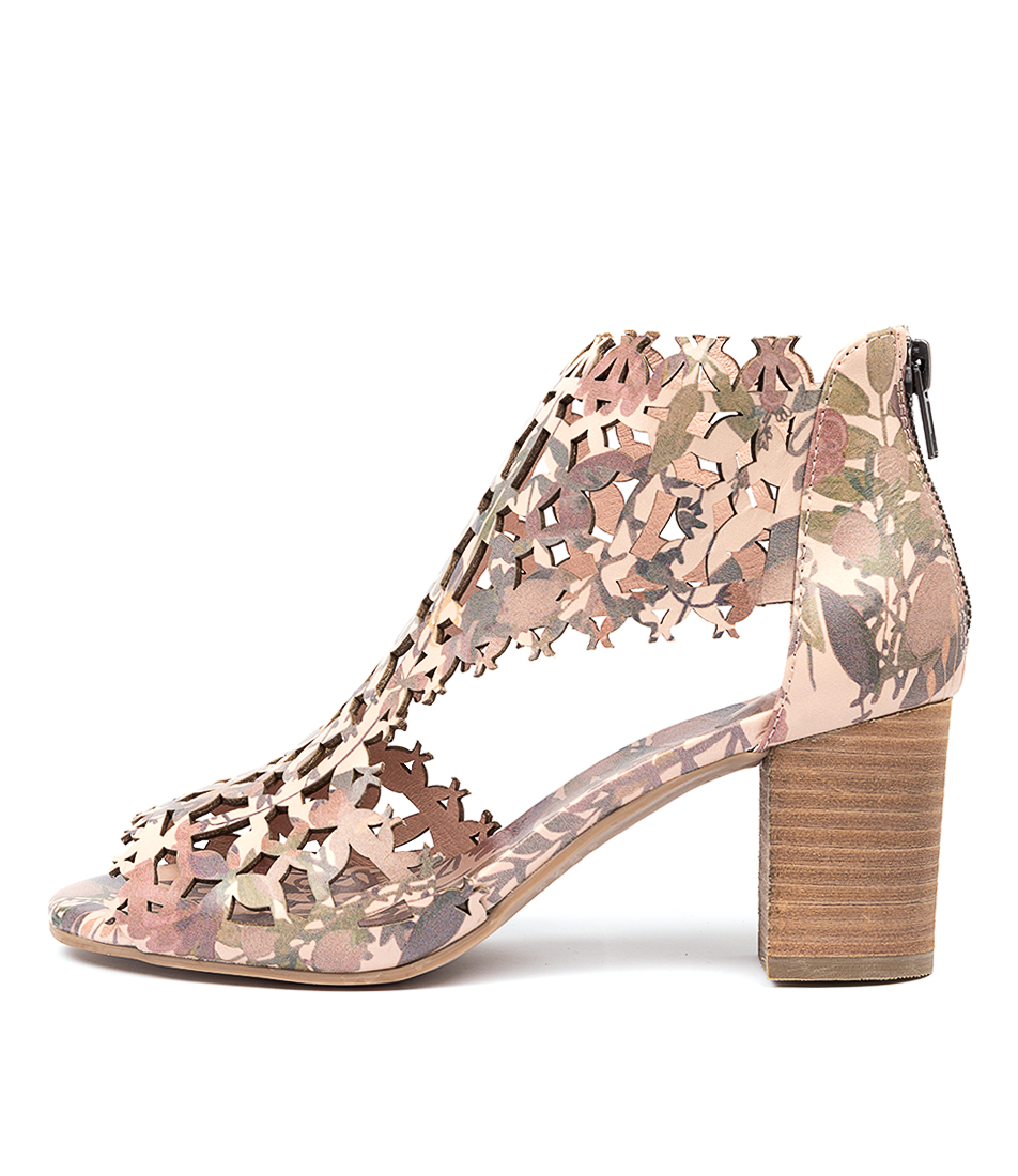 Buy Django & Juliette Shanon Floral Print Heeled Sandals online with free shipping