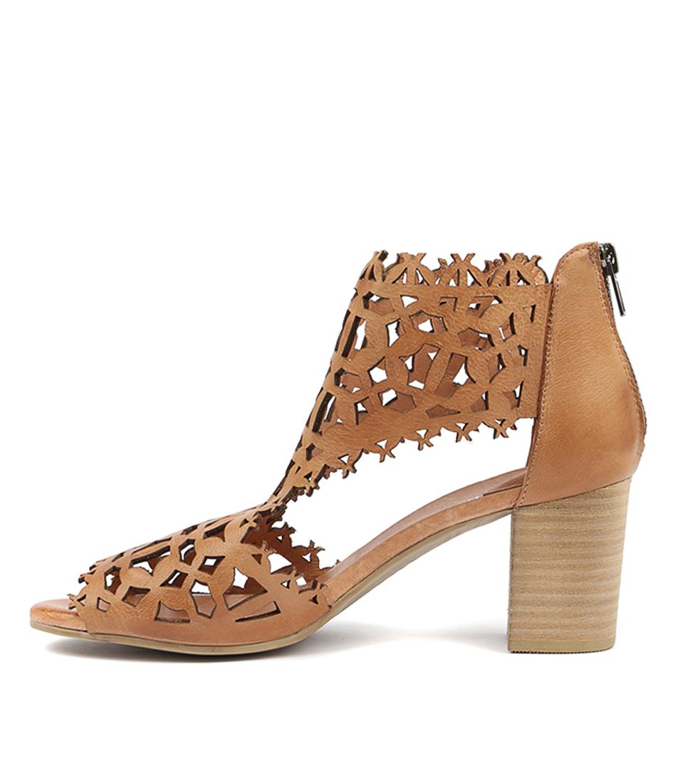 Buy Django & Juliette Shanon Dk Tan Heeled Sandals online with free shipping